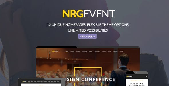 NRGevent - Conference & Event Template