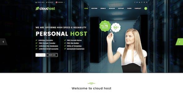 Cloud Host - Innovative Hosting PSD Template