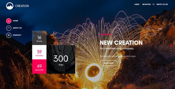 CREATION - Creative Template For Coming Soon Page