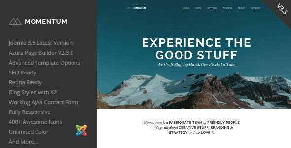 Momentum - Simple Creative OnePage Joomla Template - Creative Joomla