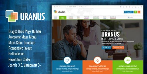 Uranus - Responsive Colorful Virtuemart Joomla Template