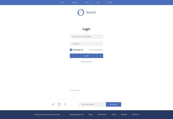 Secant | eCommerce Sketch template - Sketch UI Templates