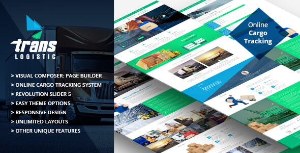 Cargo Tracking Website Templates from ThemeForest