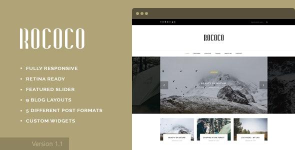Rococo - WordPress Theme for Bloggers - Personal Blog / Magazine