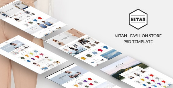 Nitan - Ecommerce PSD Template - Retail Photoshop