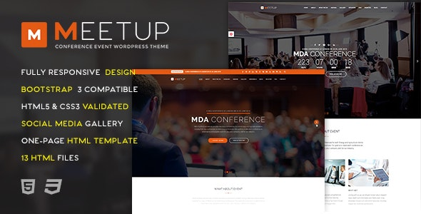 Meetup - Conference Event HTML Template - Events Entertainment