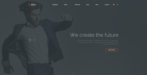 Doo — Clean and Simple Multipurpose PSD Template