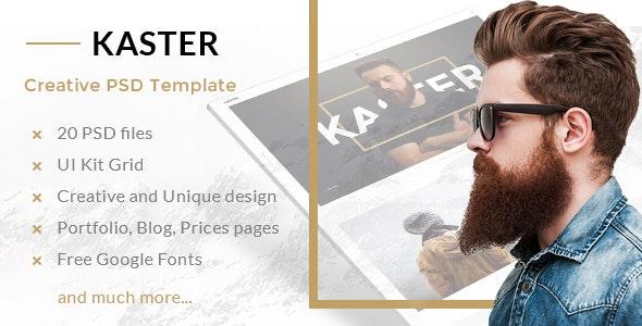 Kaster — Multipurpose Creative Agency, Personal Portfolio, Modern Blog PSD Template - Creative PSD Templates
