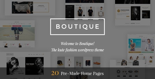 Boutique - Kute Responsive WooCommerce Theme - WooCommerce eCommerce
