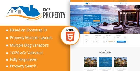 KodeProperty - Real Estate Multipurpose HTML5 Theme - Corporate Site Templates