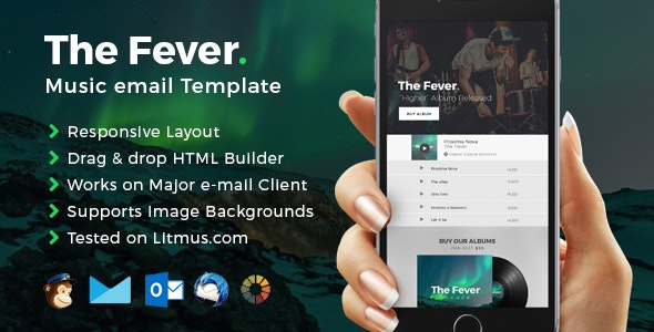 Fever - Music Email Template + Builder Access - Email Templates Marketing