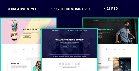 The Crazy - Creative Agency PSD Template - Creative PSD Templates