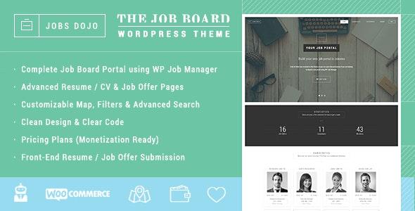 JobsDojo - The WordPress Job Board Portal Theme - Directory & Listings Corporate