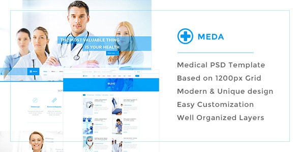 Meda — Responsive Hospital and Health Care PSD Template - Health & Beauty Retail