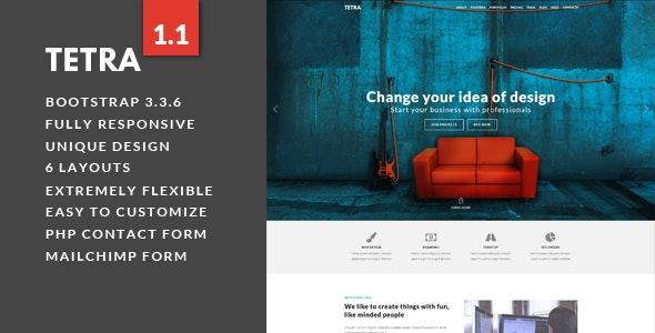 Tetra - Multipurpose Landing Page Template - Landing Pages Marketing