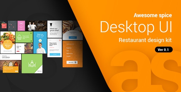 Awesome spice | Desktop UI kit Sketch App - Food Retail