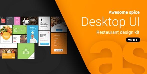 Awesome spice | Desktop UI kit Sketch App