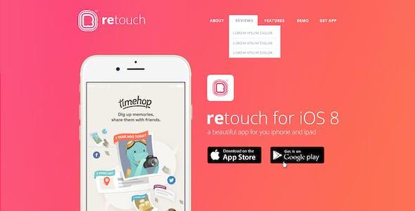 ReTouch App - App PSD Template