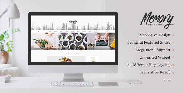 Memory Mobile Friendly HTML Template - Entertainment Site Templates