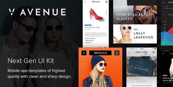 V Avenue Mobile UI Kit