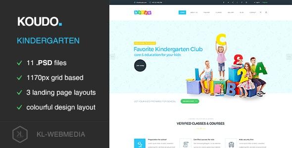 Koudo - Kindergarten PSD template - Children Retail