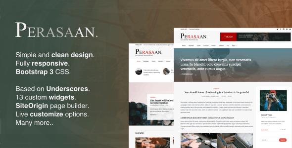 Perasaan - Magazine WordPress Theme - Blog / Magazine WordPress