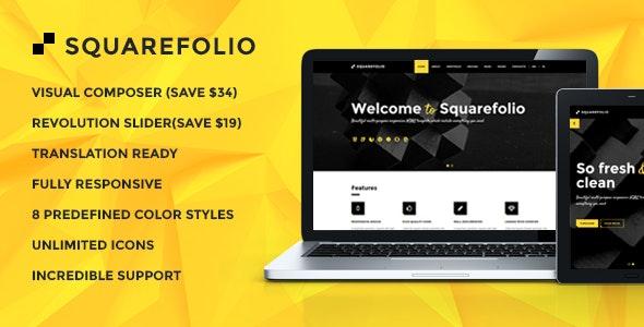 Squarefolio - Business Multipurpose WordPress Theme - Business Corporate