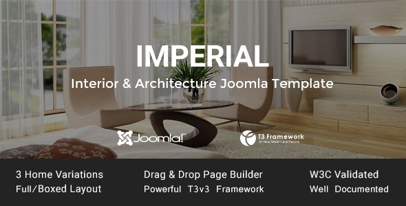 Imperial - Interior & Architecture Joomla Template - Business Corporate