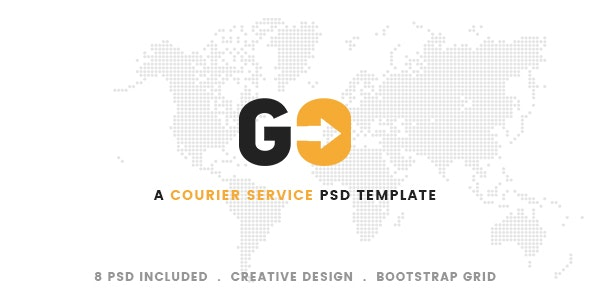 GO – A Courier & Delivery Service PSD Template - Retail PSD Templates