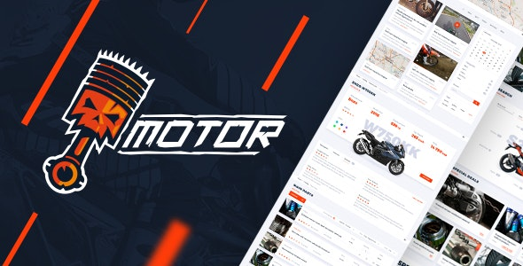 Motor – Vehicles, Parts & Accessories Store - PSD Template - Business Corporate