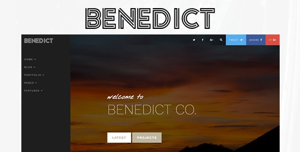 Benedict - Creative Blog/Portfolio Template - Personal Site Templates