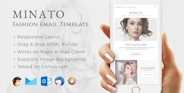 Minato - Fashion Email Template + Builder Access - Email Templates Marketing
