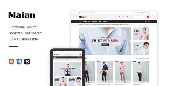 Responsive Magento Theme - Maian - Fashion Magento