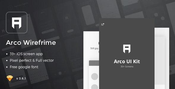 Arco – Wireframe Mobile UI Kit - Creative Sketch