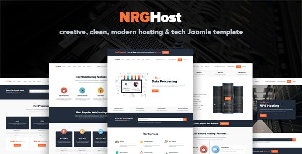 NRGHost - Hosting & Tech Template with Virtuemart