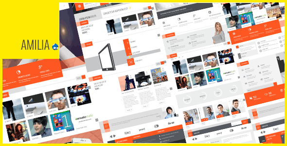 Amilia - Multipurpose One & Multi Page Drupal 7 Theme - Business Corporate