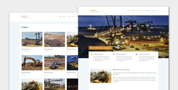 Miner - Modern Industrial WordPress Theme - Business Corporate