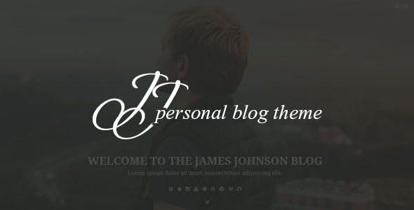 JJ BLOG - Personal Blog WordPress Theme