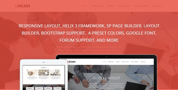Lucaxi - Multipurpose Joomla Template - Business Corporate