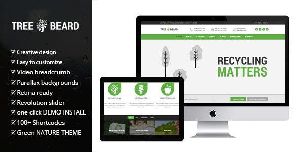 TreeBeard - Ecology/Environmental WordPress Theme - Environmental Nonprofit