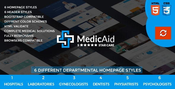 MedicAid - Medical and Hospital - Multipurpose HTML Template - Business Corporate