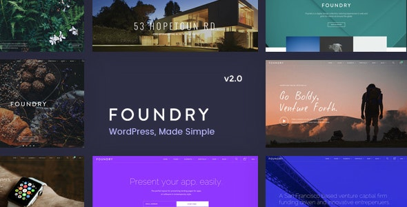 Foundry - Multipurpose, Multi-Concept WP Theme - Business Corporate