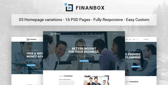 Finanbox - Multipurpose Business PSD Template - Business Corporate