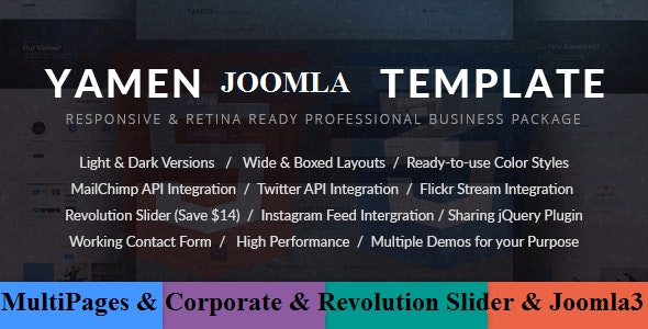 YAMEN - Responsive Business Joomla Template - Business Corporate