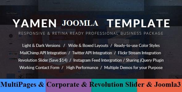 YAMEN - Responsive Business Joomla Template