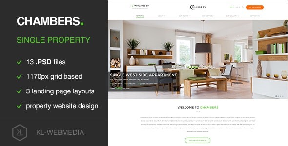 Chambers - Single Property PSD Template - Retail PSD Templates