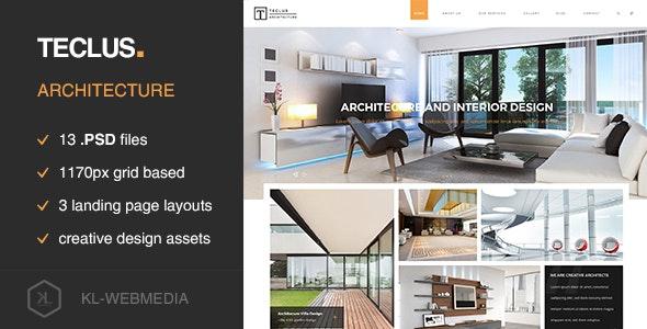 Teclus - Architecture PSD Template - Experimental Creative