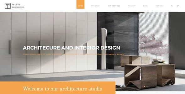 Teclus - Architecture PSD Template