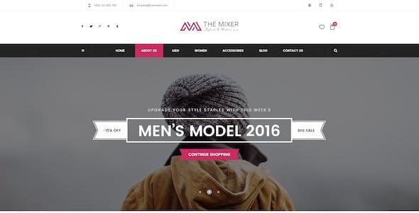 The Mixer - Creative Shop PSD Templates