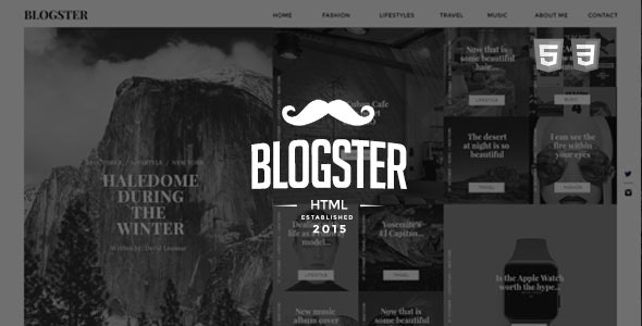 Blogster :: A Responsive Personal HTML Blog Theme - Personal Site Templates